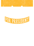 Hockey Player for President (Yellow)